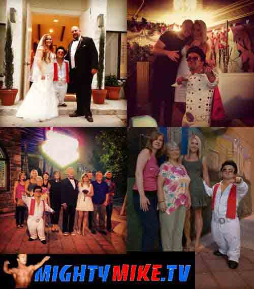 Mini Impersonators, Small Host, Midget Dj, Dwarf performer. Halloween Pumpkin Wedding hire in Banning, California. With Little Person Minister Mighty Mike. Small wedding hosts, Little Entertainers.